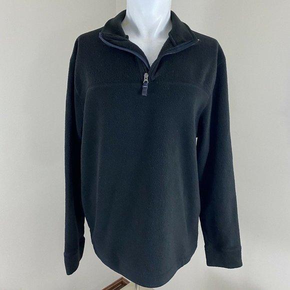 GAP MensFleece Pullover Soft and Warm Black 1/2